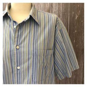 Men's Arrow Cotton Striped Button Down Shirt